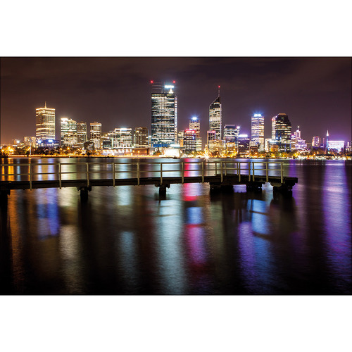 Art Illusions Perth Skyline III Canvas Wall Art