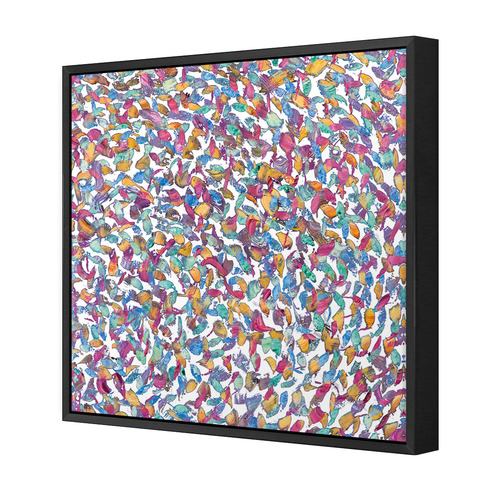 Art Illusions Depths Of Colour White Canvas Wall Art by Helen Joynson