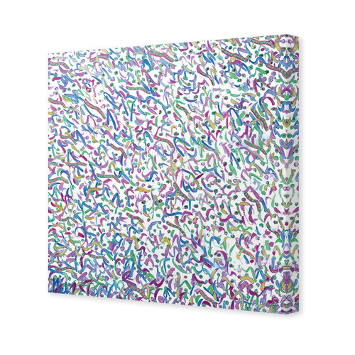Art Illusions Patterns Of Another Galaxy Canvas Wall Art by Helen Joynson