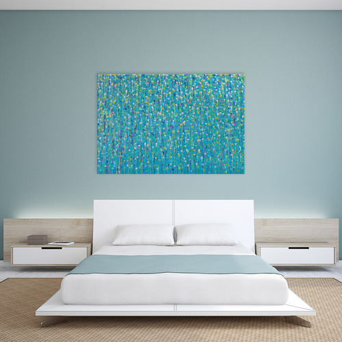 Art Illusions Green Is Healing Canvas Wall Art by Helen Joynson