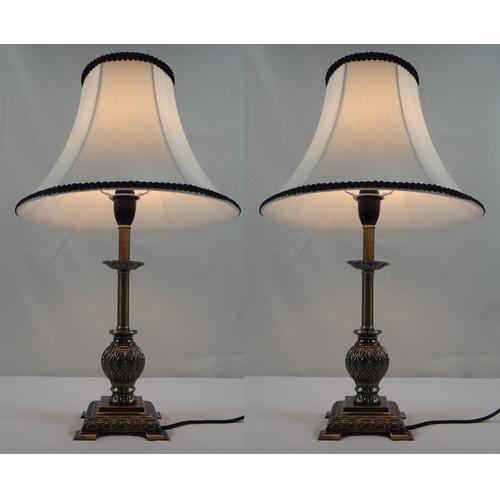 Kloe Lighting Lily Table Lamp With Black Rim