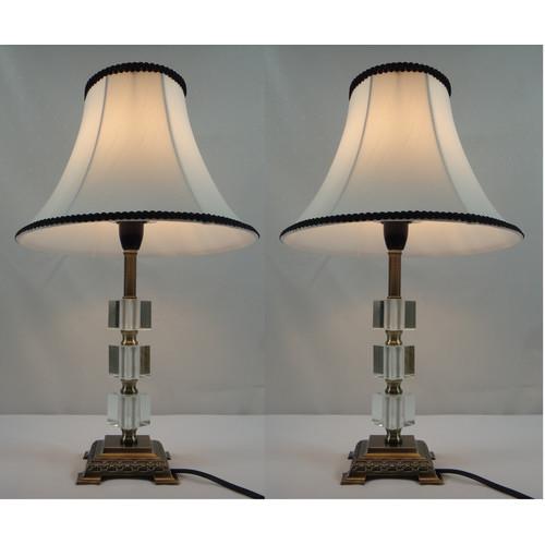 Kloe Lighting Poppy Table Lamp With Black Rim