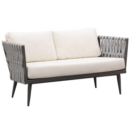 Indosoul Crown Aluminium & Fabric Outdoor Loveseat
