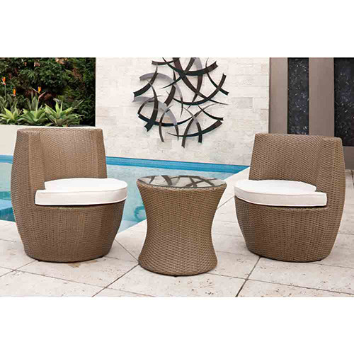 Temple & Webster 3 Piece Tower Outdoor Stacking Furniture Set
