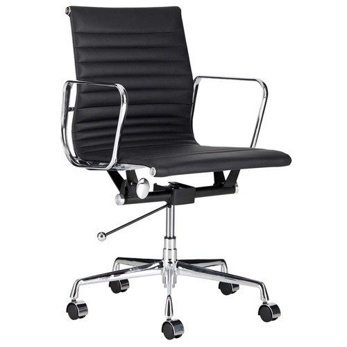 milan direct eames leather replica management office chair reviews