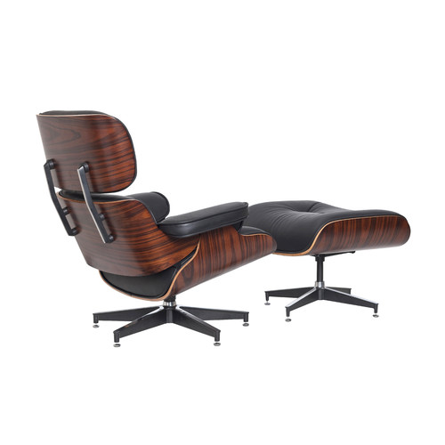 Milan direct eames faux leather replica lounge chair for Lounge chair replica erfahrungen