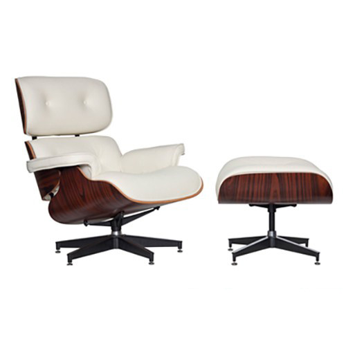 Milan Direct Eames Premium Replica Lounge Chair & Ottoman