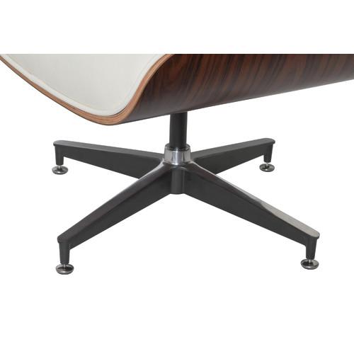 Milan Direct Eames Premium Leather Replica Lounge Chair & Ottoman