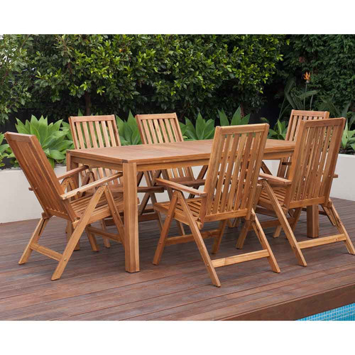 Temple & Webster Alicante Outdoor Timber Rectangular Table