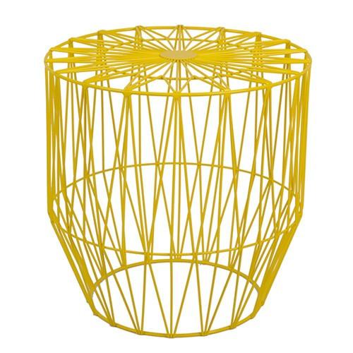 Milan Direct Havana Geometric Wire Side Table
