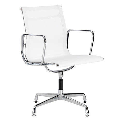 Milan direct eames replica mesh aluminium visitor office for Eames aluminium chair replica