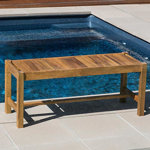 Temple & Webster Sabadell 2 Seater Outdoor Timber Bench