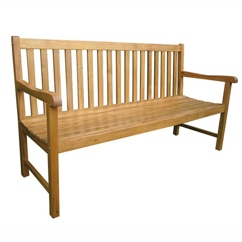 Temple & Webster Madrid 3 Seater Outdoor Timber Bench
