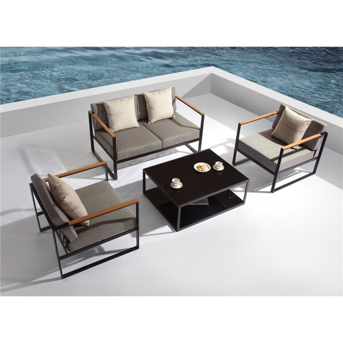 Temple U0026amp; Webster 4 Piece Santorini Deluxe Outdoor Lounge Set