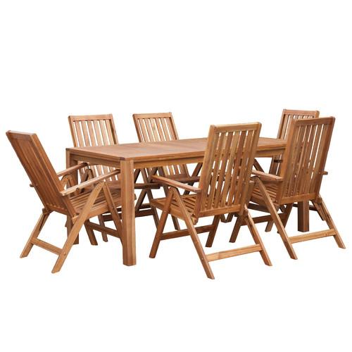 Temple & Webster 7 Piece Palma Majorca Outdoor Timber Dining Set