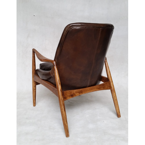 Milan Direct Brown Leather Demi Armchair