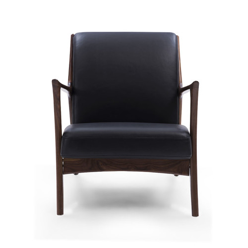 Temple & Webster Black & Walnut Joakim Scandinavian Armchair