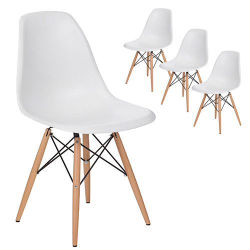Milan Direct Eames Replica DSW Dining Side Chairs