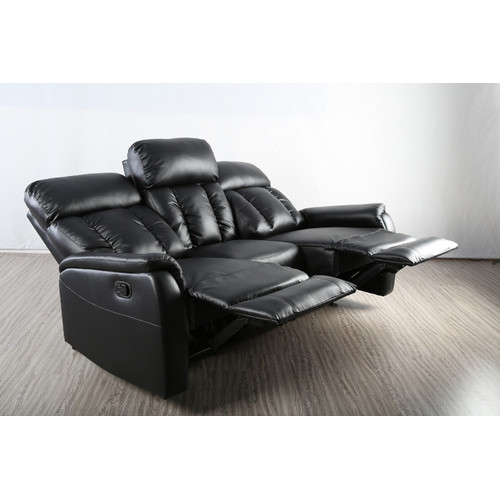 Milan Direct Miami Recliner 3 Seater Lounge Sofa