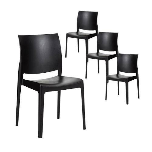 maya stackable chair set of 4