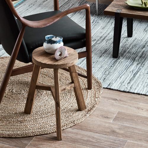 Milan Direct Brown Leather & Denim Demi Armchair