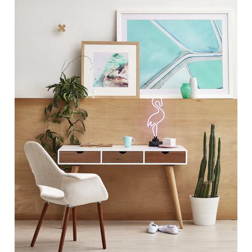 50 Splendid Scandinavian Home Office And Workspace Designs: Milan Direct Johanne Scandinavian Style Office Desk