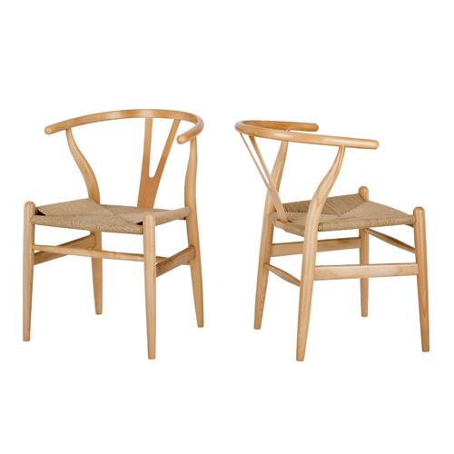 Milan Direct Natural Hans Wegner Replica Wishbone Chair
