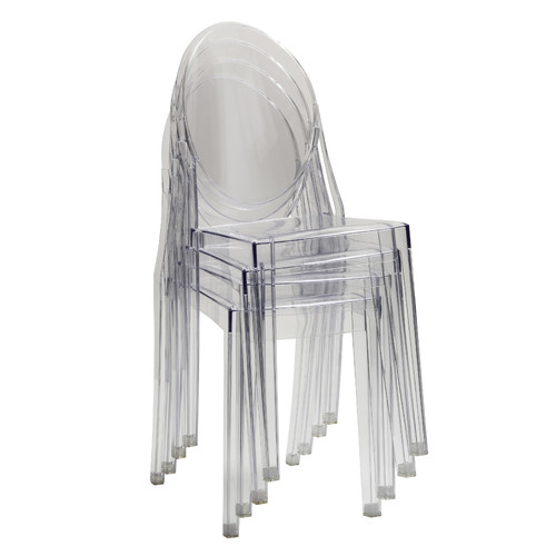 Milan Direct Philippe Starck Replica Ghost Side Chair