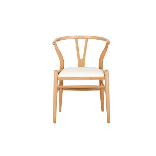 Milan Direct Hans Wegner Replica Wishbone Chair with Padded Seat