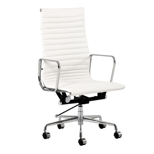 Milan Direct Eames Replica Leather High Back Management Office Chair