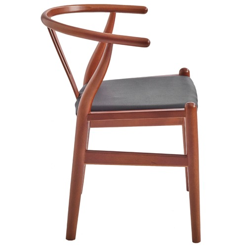 Milan Direct Hans Wegner Replica Wishbone Chair with Padded Seat