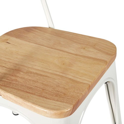 Milan Direct Tolix Replica Chair with Timber Seat