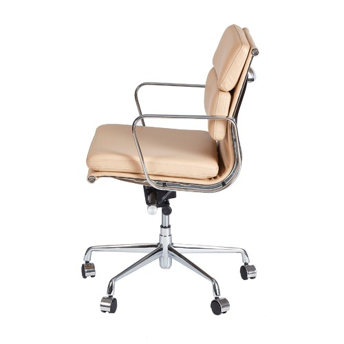 Milan Direct Eames Premium Leather Replica Soft Pad Management Office Chair