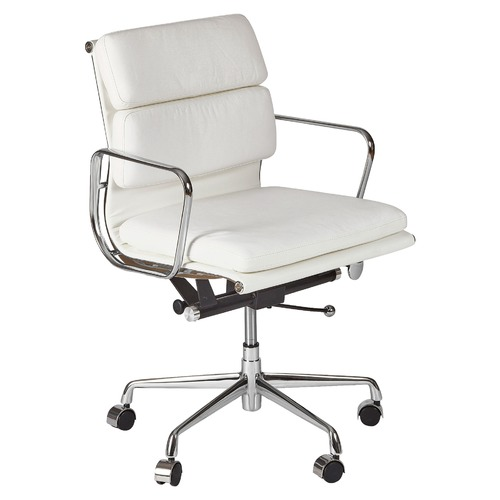 milan direct replica eames executive office. Milan Direct Eames Premium Leather Replica Soft Pad Management Office Chair Executive I