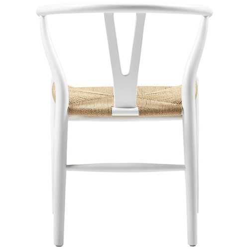 Milan Direct White & Natural Replica Hans Wegner Wishbone Chairs