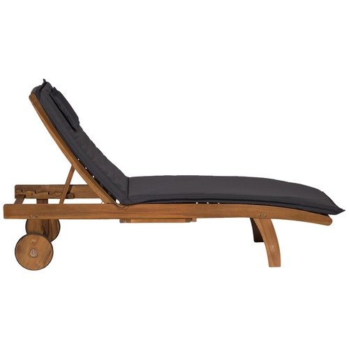 Temple & Webster Monaco Wheeled Outdoor Hardwood Sunlounger