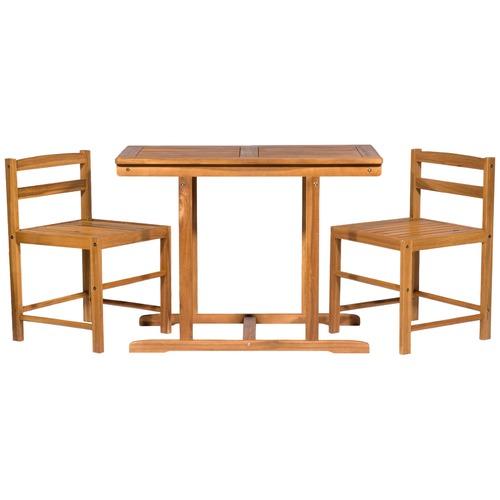 Milan Direct Marbella Outdoor Timber Furniture 3 Piece Patio Set