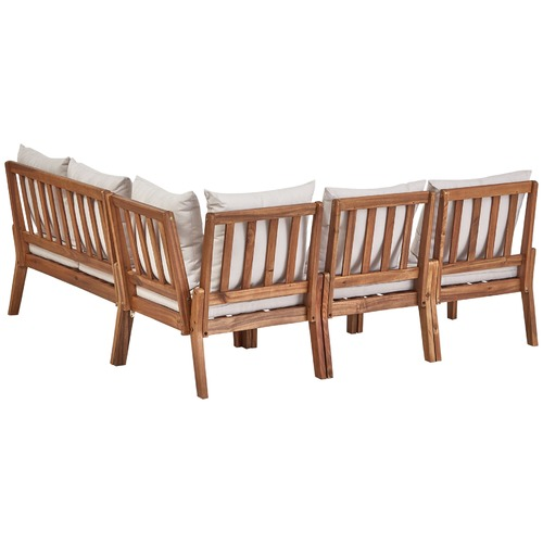 Milan Direct Anquilla Outdoor Modular Lounge Set with Cushions