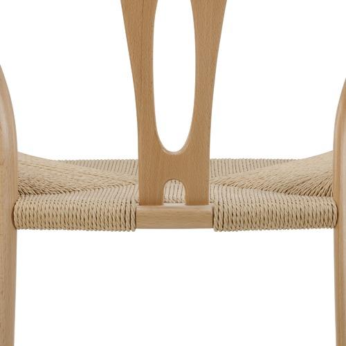 Milan Direct Natural Hans Wegner Replica Wishbone Bar Stool