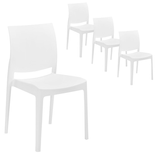 Milan Direct Maya Stackable Chair  sc 1 st  Temple u0026 Webster & Maya Stackable Chair | Temple u0026 Webster