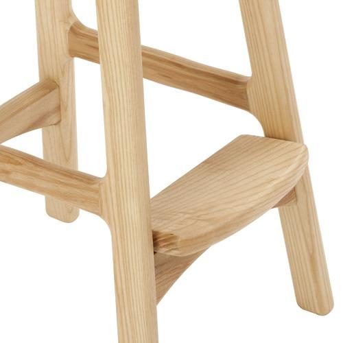 Milan Direct 72cm Erik Buch Replica Natural Wood Bar Stool