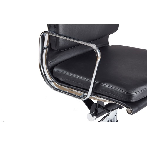 Milan Direct Eames Premium Leather Replica High Back Soft Pad Management Office Chair