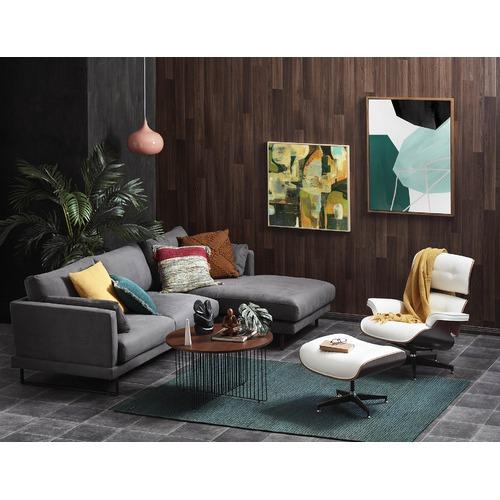 Milan Direct Eames Faux Leather Replica Lounge Chair & Ottoman