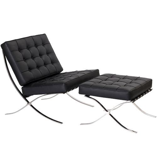 Milan Direct Barcelona Leather Ottoman Replica Premium