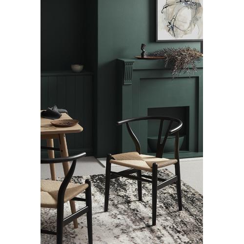 Milan Direct Black & Natural Replica Hans Wegner Wishbone Chairs