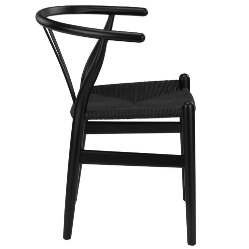 Milan Direct Black Hans Wegner Replica Wishbone Chairs