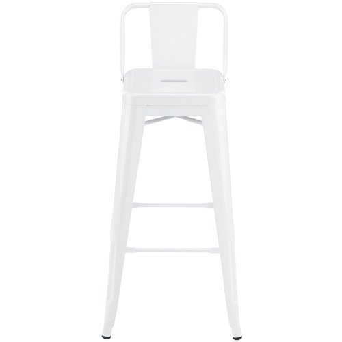 Milan Direct 76cm Tolix Replica Barstool with Backrest
