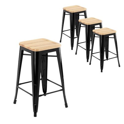 Replica Xavier Pauchard Timber Top Tolix Bar Stools