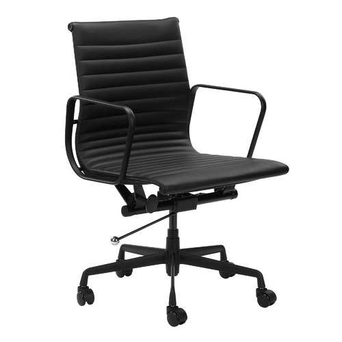 Milan Direct Deluxe Leather Eames Replica Management Office Chair