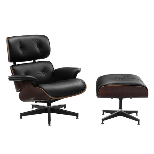Milan Direct Eames Premium Leather Replica Lounge Chair
